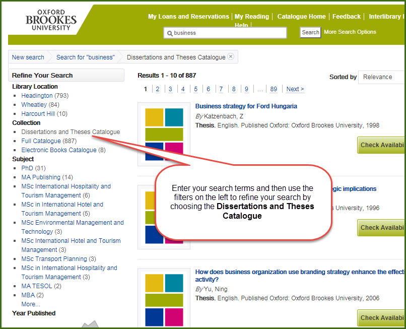 How To Find Dissertations and Theses · University of Minnesota Libraries